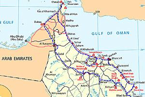oman cesta nahled Omán a Spojené arabské emiráty 2007