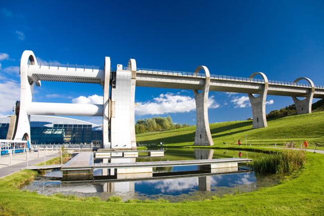 falkirk wheel skotsko scotland 3 Falkirk Wheel + Union Canal, Skotsko