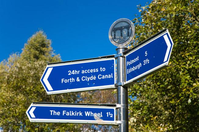 falkirk wheel skotsko scotland 39 Falkirk Wheel + Union Canal, Skotsko